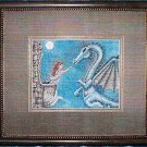 *Dragon CROSS STITCH Kustom Krafts MOONLIGHT VISIT 2004