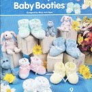 *Annie's Attic Crochet BABY Booties * 9 * Designs for Boys and Girls