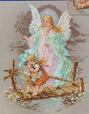 * ANGEL Cross Stitch KIT  ~ GUARDIAN ANGEL