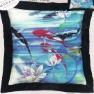 * KOI FISH & WATERLILY Embellished Cross Stitch KIT Lucy Wang