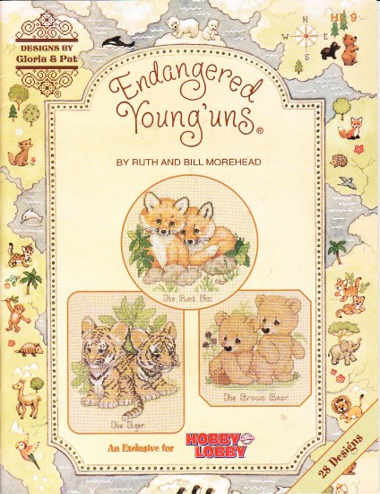 OOP HTF CROSS STITCH PATTERN - Endangered Young'uns 2003