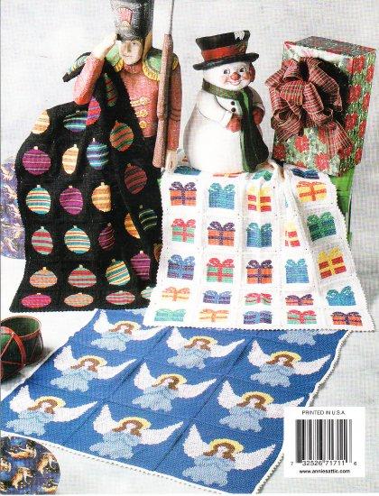 * Crochet * 6 * Annie's Attic Christmas Afghans HTF -  Angels - Christmas Trees