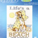 * Dog / Puppy Cross Stitch Kit  LIFE'S A BEACH Designs for the Needle