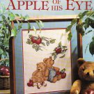* Teddy Bear Cross Stitch APPLE OF HIS EYE