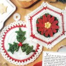 ^ Crochet Christmas Pot Holders/Icicles - Xst Santa Pattern - Others