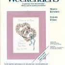 ^ Wedding Cross Stitch KIT ~ Two Hearts As One ~ Hearts Entwined