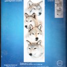 * WOLF Cross Stitch KIT  4 WOLVES ~ THE PACK 2004