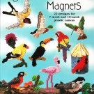 * Plastic Canvas 22 Bird Magnets - Plant Pokes - Bookmarks