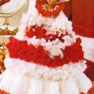 * Crochet AA Snowman Pot Holders - Ruffled Doll Dress -Mini PC Nativity