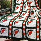 * Crochet Softback Book - 47 Plus Afghan Patterns Filet Roses Diagonal Pattern