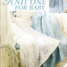 * Knit One for Baby - Lace Knitted Afghans - One Baby  Boy Afghan