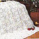 *Knit / Crochet  * 8 * Afghans - Vintage 1977 - Bridal Rose pattern