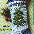 * Crochet * 5 * Christmas Stockings - Snowflake -  Tree - Colors