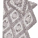 * Crocheted  VINTAGE Mail Order Flower Afghan Pattern