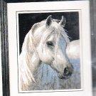 * WHITE STALLION HORSE Needlepoint KIT 2003 Gentle Strength 11 x 14