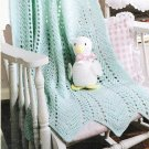 *Crochet  * 7 *  Ripple Baby Afghans plus Toy Ducky