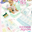 *Crochet  * 5 * Adorable  Baby Afghans and Bibs Crochet 'n' Weave