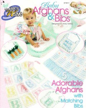 *Crochet  * 5 * Adorable  Baby Afghans and Bibs Crochet 'n' Weave