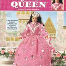 *CROCHET Annie's Attic - Rose Queen Fashion Doll Dress Pattern
