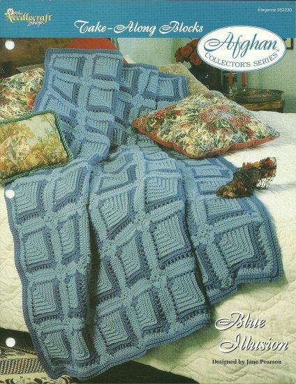 *Crochet Afghan Collector's Series - Blue Illusion - Take-Along Blocks