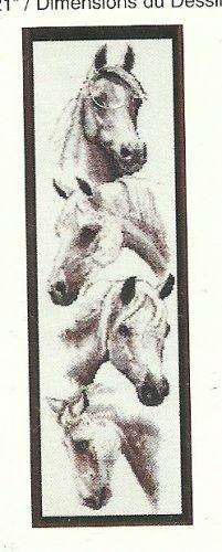 * Just-A-Chart Cross Stitch - White Horses