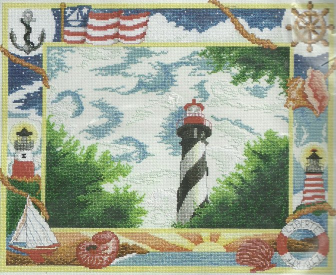 * Lighthouse Cross Stitch KIT  ~ NAUTICAL SAMPLINGS