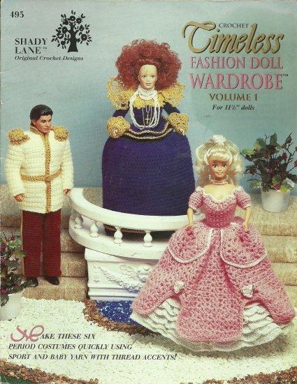 *Crochet  * 6 * Fashion Doll Timeless Wardrobe - Vol 1 - 1996