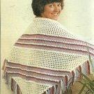*Crochet Spanish Shawl - Festive Wrap - Worsted Weight Yarn