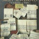 *Cross Stitch Pattern Sweet Sentiments for Borderline Towels
