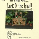 *Cross Stitch Pattern - Luck O' the Irish !!- It's A Block Party....