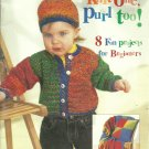 *Beginners Knitting Instructions - Patons Knit One Purl One - 8 Fun Projects