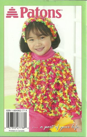 * Knit/Crochet Patons Poncho for Adult and Kids - OoH La La