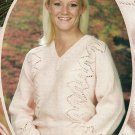 * Hard Back Knitting Book - Side-to-Side Lace Sweater /Adirondack Weekend