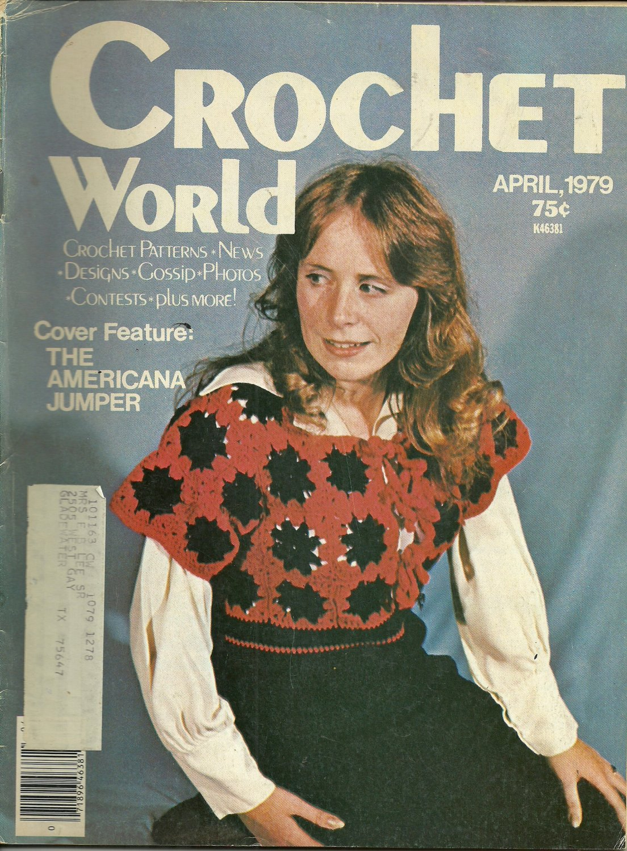 *Crochet World Mag - April -1979/ Bird Filet Crochet Mat