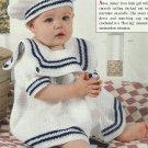 *Crochet with Heart - Li'l Sailor Dress - Ocean Waves Afghan - Bed of Roses Baby Afghan