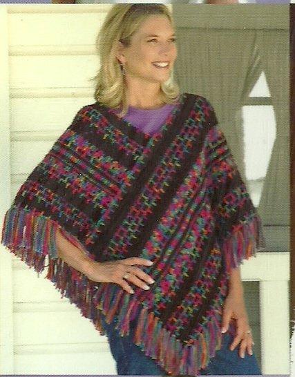 *Annie's Attic - Poncho Panache - Crochet 16 Designer Poncho Patterns