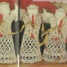 *Crocheted Angels - Christmas Stockings/Trees/Skirt - Fashion Doll Pattern Plus