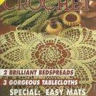 "*Decorative CROCHET - #35 - Tablecloth 58""x99"" - 2 Brilliant Bedspreads"