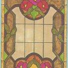 *Stained Glass Art - Hidden House Window Pattern S-20