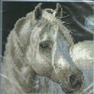 * WHITE STALLION HORSE Needlepoint KIT 2005 Gentle Strength 5 x 5