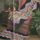 * Annie's Attic Crochet Ripple Afghan and Rug - Doll slippers - Goose Pillow