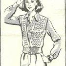 ** Crocheted  VINTAGE Mail Order Crocheted Vest-Jacket