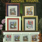 ** SEASONAL WINDOWS Cross Stitch  4 cross stitch patterns