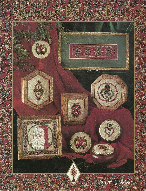 ** Christmas Cross Stitch Patterns MILL HILL ~ BEADS & BOXES 1991