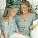 ** Knit Lacy Cardigan for Mother / Daughter by Patons