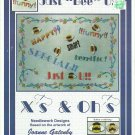 """** X'S AND OH'S Cross Stitch Pattern JUST """"BEE"""" U 2003"""