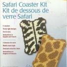 ** Plastic Canvas Safari Coaster Kit - 4 coasters