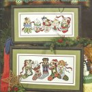 Dog & Cat Cross Stitch Patterns STONEY CREEK HANGING AROUND FOR CHRISTMAS