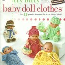 "Knit Itty Bitty Baby Doll Clothes for 5"" Dolls"