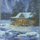 *Needlepoint Kit WINTER SKY CABIN Dimensions 2010